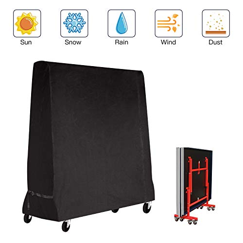 Fayttoli Premium Taille complète Housse de Tennis de Table Ping Pong Table Housse étanche Intérieur/extérieur (185 × 70 × 165 cm) Noir