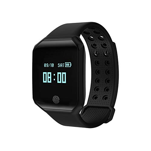 Insense Waterproof Z66 IP67 Waterproof Bluetooth Smart Bracelet Watch with Heart Rate Monitor,Blood Pressure Monitoring, Sleep Monitoring for iPhone and Android Phones (Black)