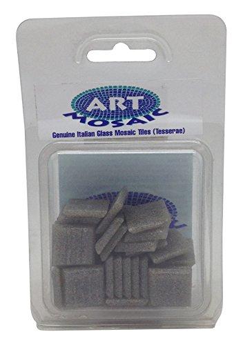 Art Mosaic Frost/Fade Resistant Indoor or Outdoor Mosaic Tiles, Glass, Dark Grey, 100 g