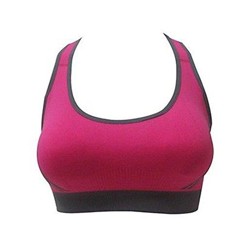 Italily-Le nuove donne Reggiseno imbottito Athletic Sports Vest Fitness Yoga Tops Rosso Caldo