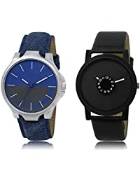 The Shopoholic Blue Grey Black Combo Latest Fashionable Blue And Grey And Black Dial Analog Watch For Boys Watch...