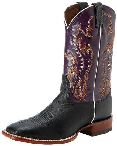 Nocona Boots Men's Smooth Ostrich Boot,Black,12 EE US