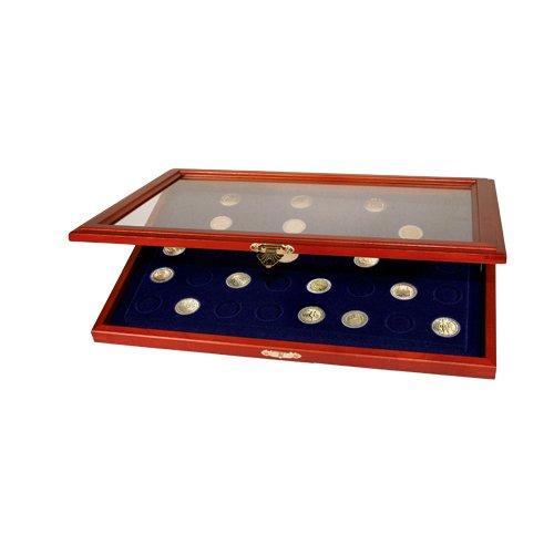 Preisvergleich Produktbild Münzen-Vitrinen für 2-Euro-Münzen in Kapseln: Vitrine für 35 St. 2-Euro-Münzen in Kapseln