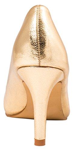 Elara Damen Pumps Spitze High Heels Stilettos Lack| chunkyrayan 1230-a-Go-37 - 4