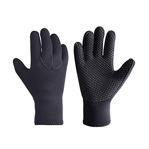 3mm Neopren-Tauchhandschuhe Anti Slip Flexible Thermal Wetsuit Handschuhe für Schnorcheln Schwimmen Surfen Segeln Kajak Tauchen Schwarz 1set XL