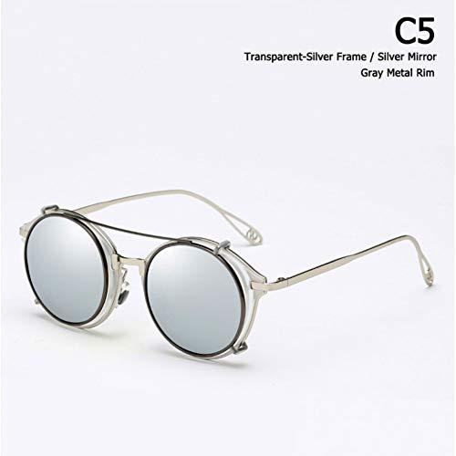 Taiyangcheng Abnehmbare polarisierte Sonnenbrille Clip auf Sonnenbrillen,C5