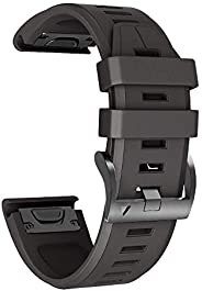 Notocity for Garmin Fenix 5X Band 26mm Width Soft Silicone Watch Strap for Fenix 5X Plus/Fenix 6X/Fenix 6X Pro