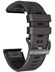 NotoCity Armband für Garmin Fenix 3 26mm Silikonband Easy Fit für Fenix 5X / Fenix 5X Plus/Fenix 3 / Fenix 3 HR