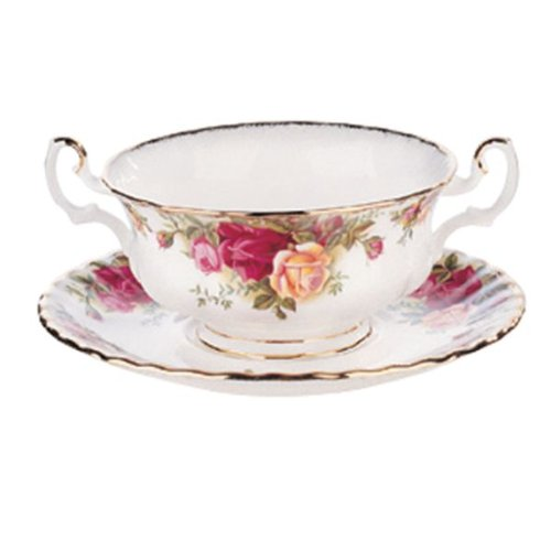 Royal Albert Old Country Roses Suppentasse, cremefarben Royal Albert Old Country Roses