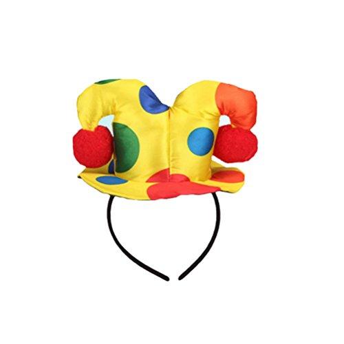 Lurrose Lunares Sombrero Diadema Payaso Circo Adulto Mujer Hombre Disfraz Disfraz Hairband