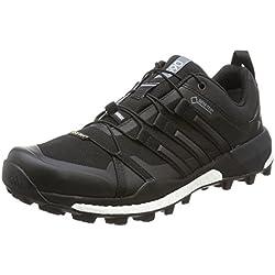 adidas Terrex Skychaser Gtx, Botas de Montaña Hombre, Negro (Negbas/negbas/ftwbla), 40 1/3 EU