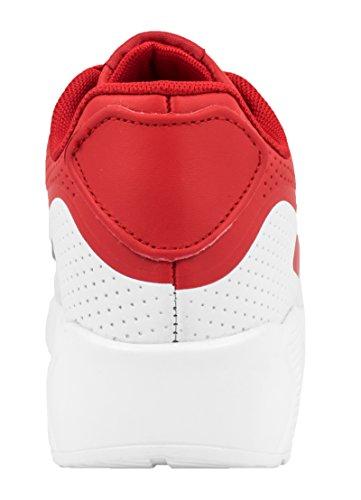 best-boots Unisex Damen Herren Sneaker Laufschuhe Turnschuhe Red-White