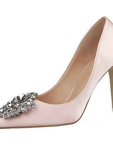 WSS 2016 Chaussures Femme-Extérieure / Habillé-Noir / Vert / Rose / Argent / Gris / Or-Talon Aiguille-Talons / Bout Pointu-Talons-Soie black-us5 / eu35 / uk3 / cn34