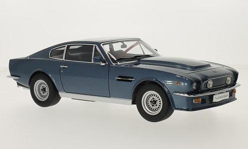Aston Martin V8 Vantage, metallizzato-blu, RHD, 1985, modello di automobile, modello prefabbricato, AutoArt 1:18 Modello esclusivamente Da