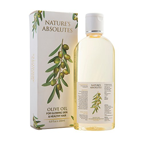 Nature\'s Absolutes Olive Carrier Oil 200 ml 100 % Pure , Cold Pressed & Organic Oil For Hair,Skin,Nails Eyebrows & Eyelashes