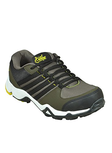 Allen Cooper E13 Olive Men's Sports Shoes (8) image - Kerala Online Shopping