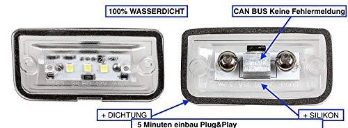 2x TOP LED SMD Kennzeichenbeleuchtung Nummernschildbeleuchtung (1103-4D)