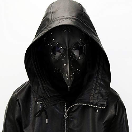 XXF Halloween Pest Hinter Prom Maske Party Europa und Amerika Halloween-Maske,Schwarz,Höhe 24 cm