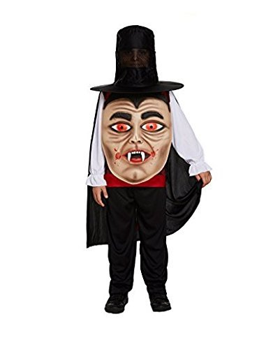 mbo Face Fancy Dress Child's Costume With Hat, Belt & Cape-10-12 Years ()