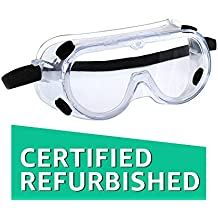 (CERTIFIED REFURBISHED) 3M 1621 Polycarbonate Safety Goggles for Chemical Splash, Pack of 1,Clear