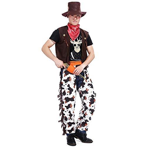 (Halloween Kostüme, Erwachsene Männer Fancy Cowboy Wilder Kostüm, Westen Halloween Kostüm Outfit)