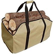 Bolsa para leña de gran calidad para transportar leñas, extragrande, duradera, ideal para