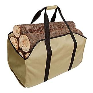 Premium para leña & bolsa transportista–Extra–grande–-Mejor para chimeneas Durable–madera estufas de leña–Troncos–Camping–playas–paisajismo