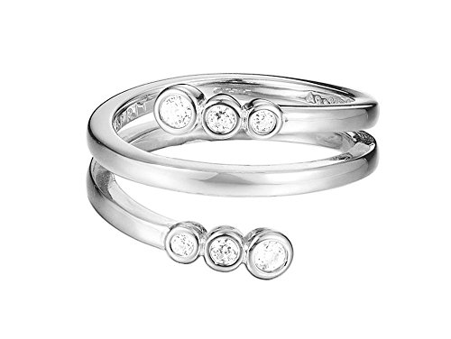 ESPRIT Damen-Ring JW52887 925 Silber rhodiniert Zirkonia transparent