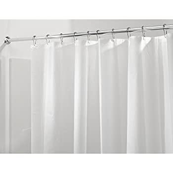 InterDesign PVC Free PEVA 3 Gauge Shower Curtain Liner, 183 X 183 Cm   Frost