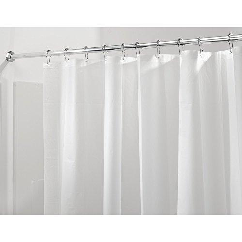 duschvorhang vinyl iDesign 3.0 Liner Futter für Duschvorhang, 183,0 cm x 183,0 cm großer Vorhang aus schimmelresistentem PEVA mit zwölf Ösen, Frost