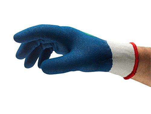 Ansell PowerFlex 80-409 Spezialzweck-Handschuhe, Mechanikschutz, Blau, Größe 10 (6 Paar pro Beutel) -