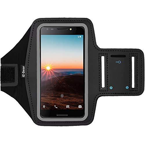i2 Gear Fitness-Armband zum Laufen - Workout-Telefonhalterung mit verstellbarem Riemen, reflektierende Kanten - Armband für T-Mobile Revvl - Telefono T-mobile