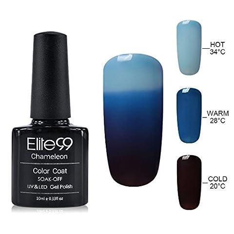 Elite99 Vernis Semi-Permanent Cameleon Temperature Nail Gel UV LED Soak Off Vernis Gel Change de 3 Couleurs 10ml 4209