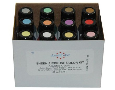 12 Airbrush Pearlescent Farben Set AmeriColor AmeriMist (12x19ml) -