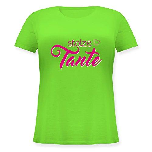 Schwester & Tante - Stolze Tante - Lockeres Damen-Shirt in Großen Größen mit Rundhalsausschnitt Hellgrün