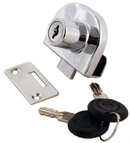 FJM-Sicherheit mei-0248-ka doppelt Glas Tür Schloss mit Chrom Finish, gleichschliessend -
