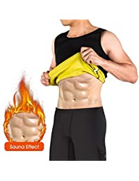 NOVECASA Chaleco Sauna Hombre Neopreno Camiseta sin Mangas Trajes Sauna Body Shaper Transpirar Gimnasia para Quema