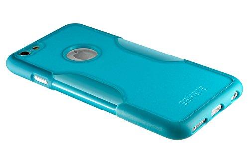 Coque iPhone 6 Plus, (Noir) SaharaCase® + [film protecteur ZeroDamage en verre trempé] kit de protection accompagné d'un et d'une protection de saisie antidérapante [antichocs] avec une coupe ajustée Bleu Sarcelle