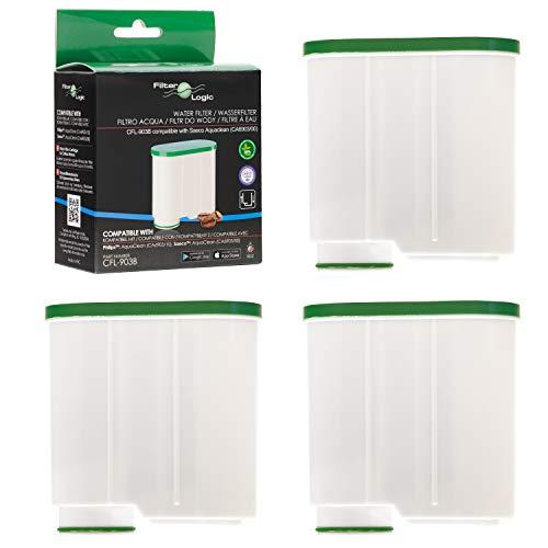 FilterLogic CFL-903B | 3er Pack Wasserfilter kompatibel mit Saeco AquaClean CA6903/00 CA6903/01 CA6903/99 CA6903 Kalkfilter, Aqua Clean Filterpatrone für Kaffeevollautomat