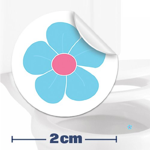 Toilettenhilfe für Kinder Säuglinge Jungs Lustige Badezimmer Bad Töpfchen Pinkelhilfe 10 x Blumen Zielhilfe Aufkleber (2 cm)