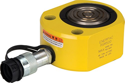 ENERPAC rsm-500 flach Jac single-acting low-height Hydraulische Zylinder mit 50-ton Kapazität, Single Port, 1,6 cm Stroke Länge -
