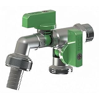 Arco Wasserhahn für den Garten oder den gewerblichen Gebrauch 1/2 Zoll grüner Griff, inkl. Garten-Schlauchanschluss