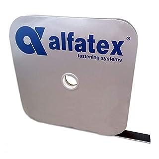 Alfatex® von Velcro® Marke, Schwarz Heavy Duty mit Lösungsmittel Tape SA4Haken und Schlaufe 20mm 1m