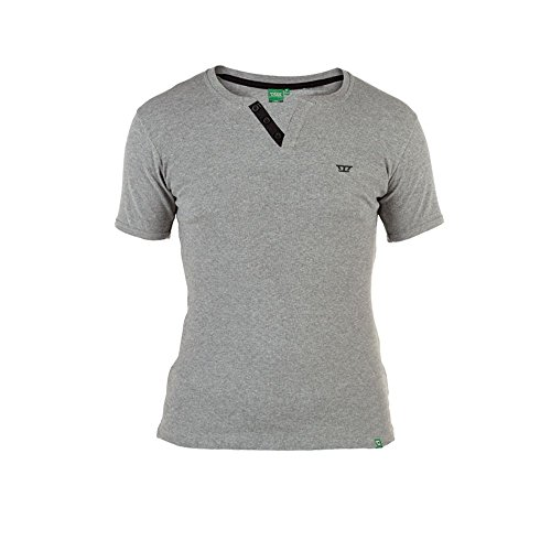 D555 Alanzo Herren Premium-Rundhals-T-Shirt, Schwarz, Weiß, Gr. M/L/XL/XXL Grau - Grau