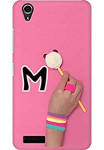 AMEZ designer printed 3d premium high quality back case cover for Lenovo A3900 (Vanilla Color Lolipop Panda And Hand With Alphabet M B&w)
