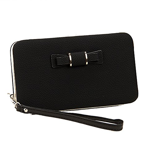 Ulisc Fashoinable Bow Women Wallet Long PU Leather Women Purse Korean Style Ladies Wallet Clutch Beautiful 2017 Card Holder (Holder Womens Leather Card)