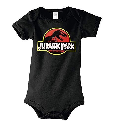 Youth Designz Baby Body Strampler Modell Jurassic T-Rex, Gr. 3-6 Monate, Schwarz