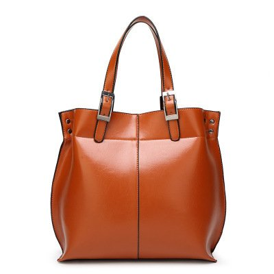 Mefly Nuova borsa semplice portatile tracolla Borsa marrone chiaro Light brown