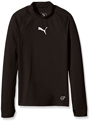 PUMA Kinder T-shirt TB Jr Long Sleeve Tee Warm, black, 128, 654867 03