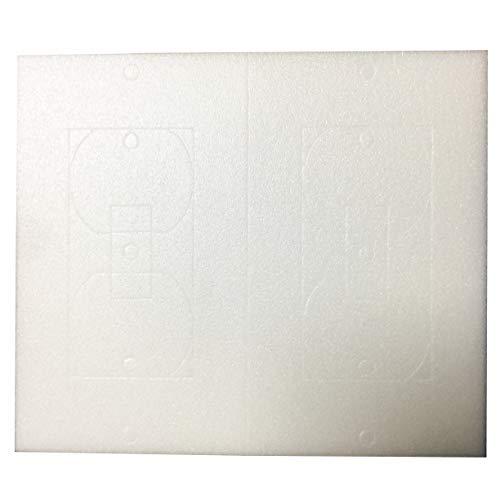 Birllaid Dämmung für Steckdosen und Wandplatten, Schaumstoffdichtungen, 26 Stück - Decora Wall Plate Blank